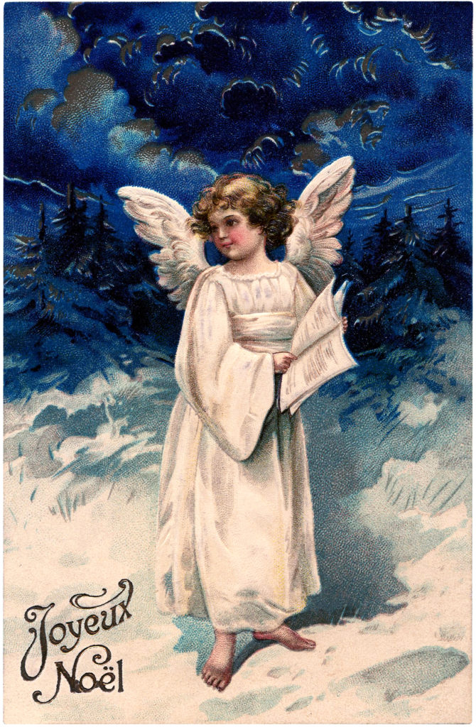vintage french angel girl child image