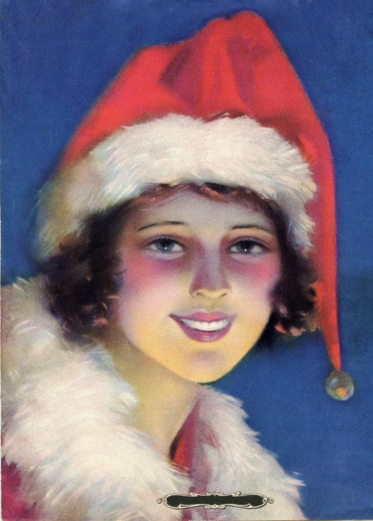 Vintage Santa Hat Girl