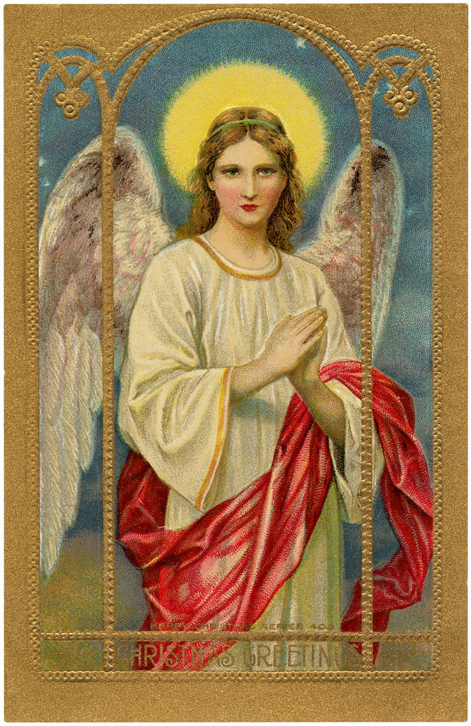 vintage holy angel wings halo image
