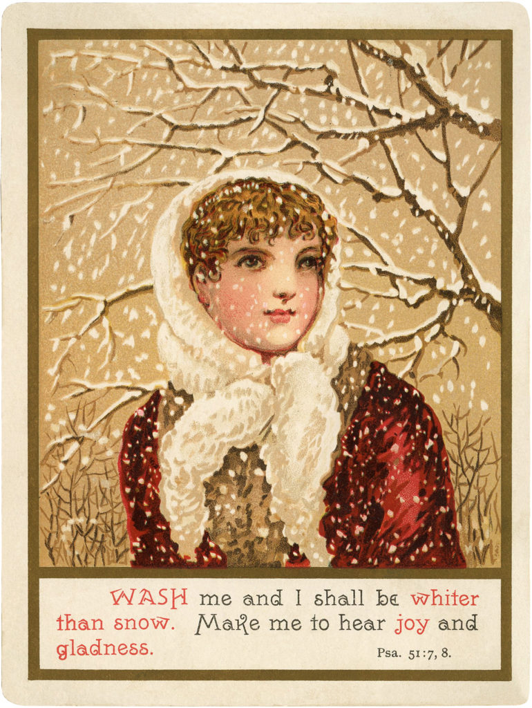 vintage snow lady Image