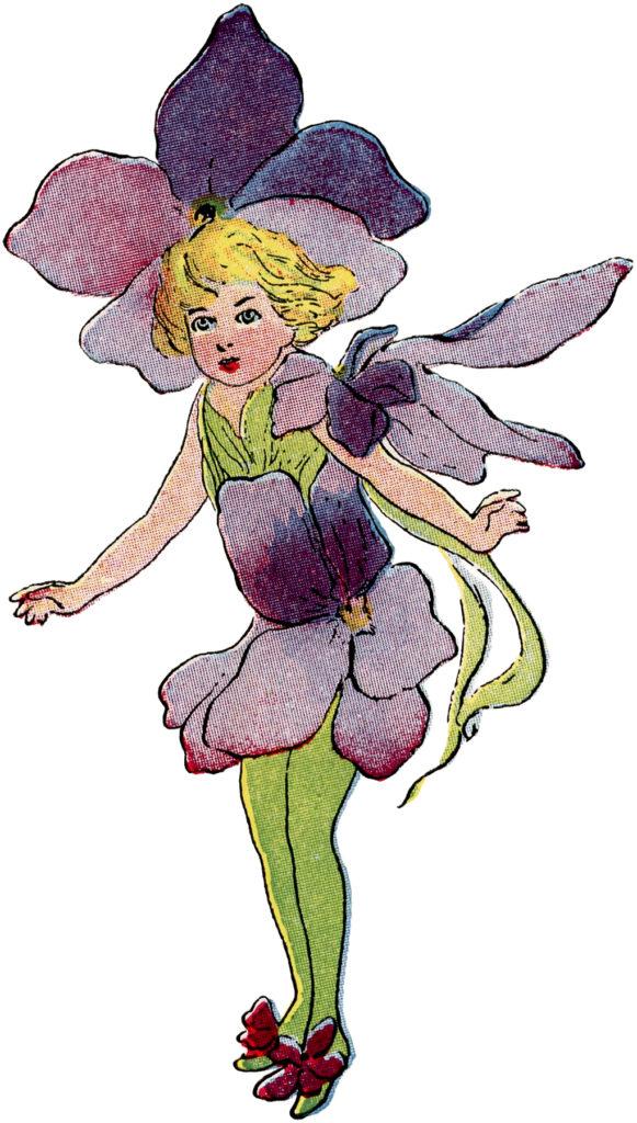 violet flower fairy image