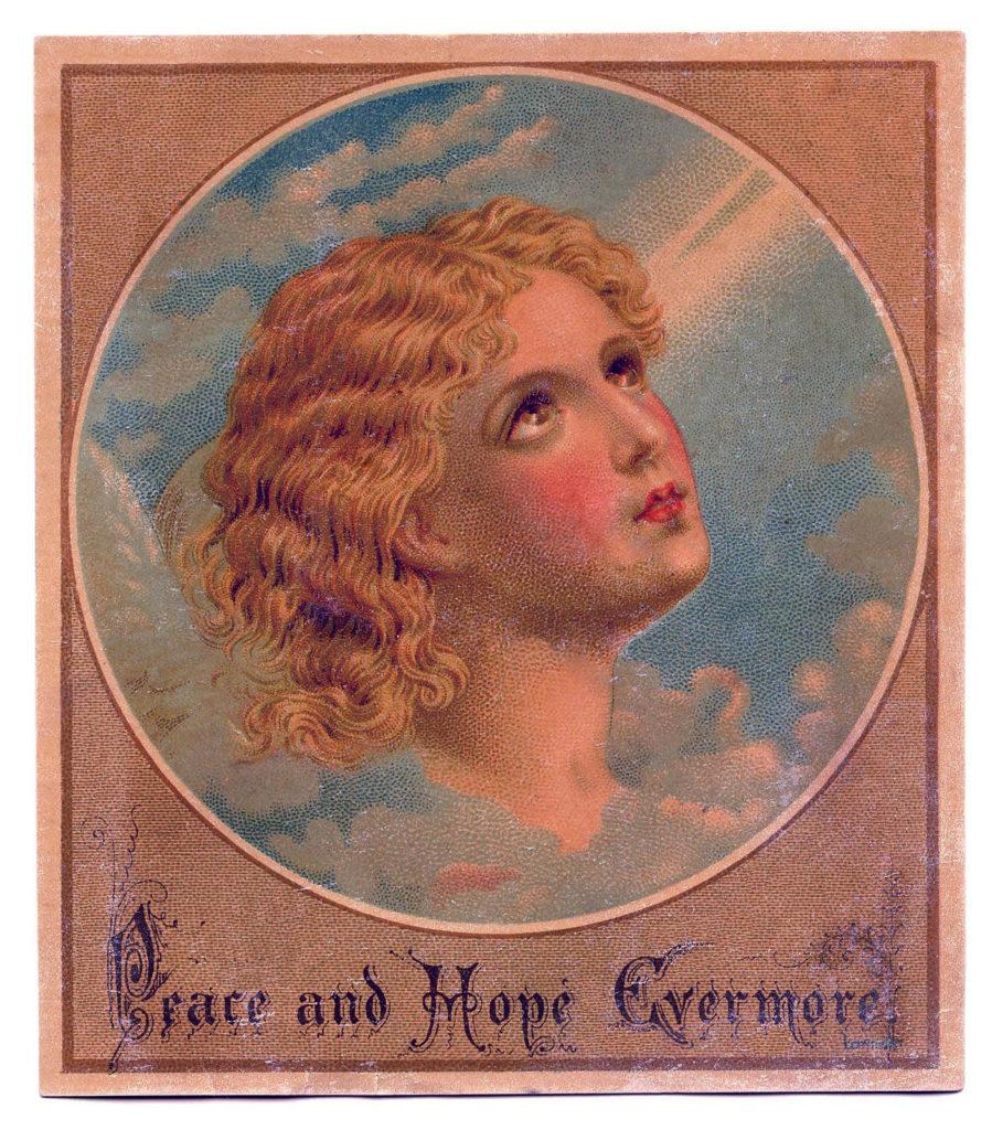 angel clouds vintage image