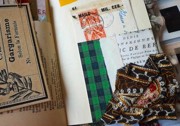 Buffalo Plaid ephemera Luna Rozu Junk Journal