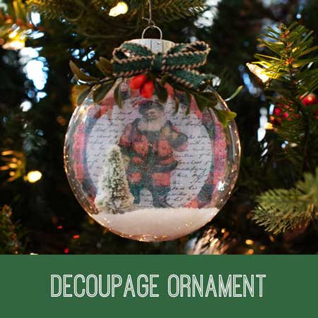 decoupage christmas ornament tutorial
