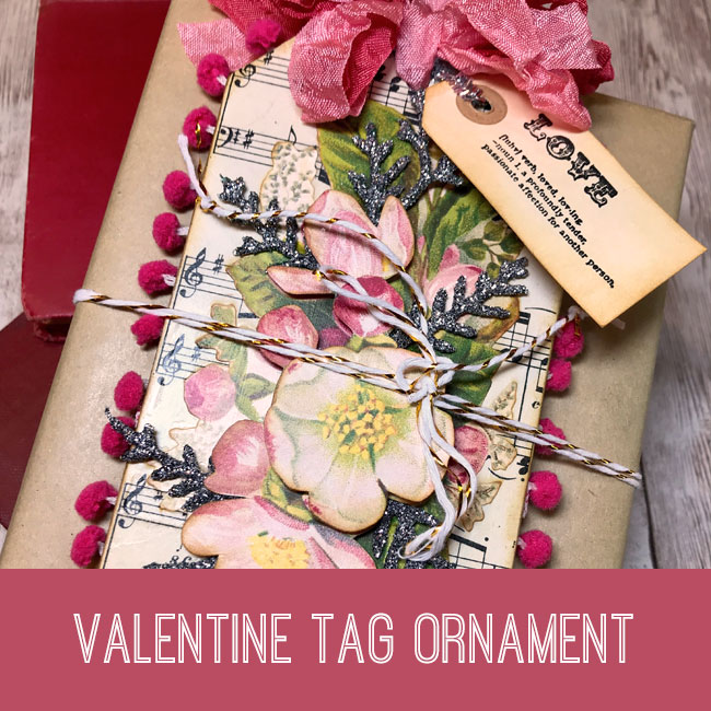 Valentine Tag Ornament Tutorial