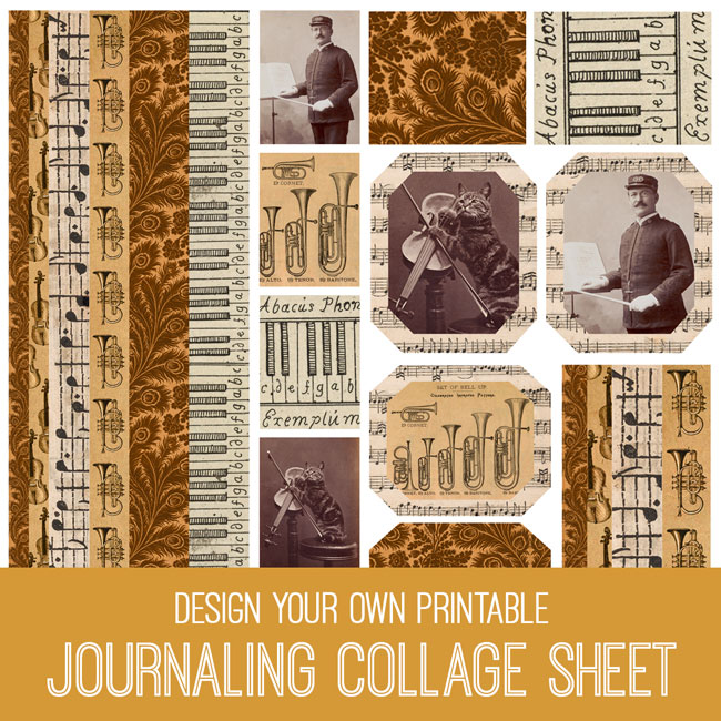 PSE Tutorial Design your own printable Journaling Collage Sheet