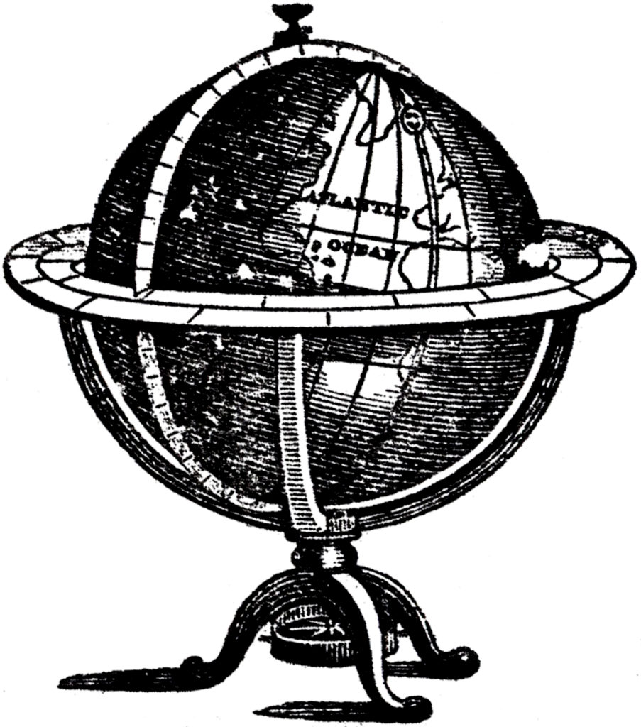 antique globe illustration