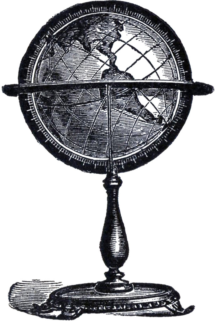 vintage globe stand clipart
