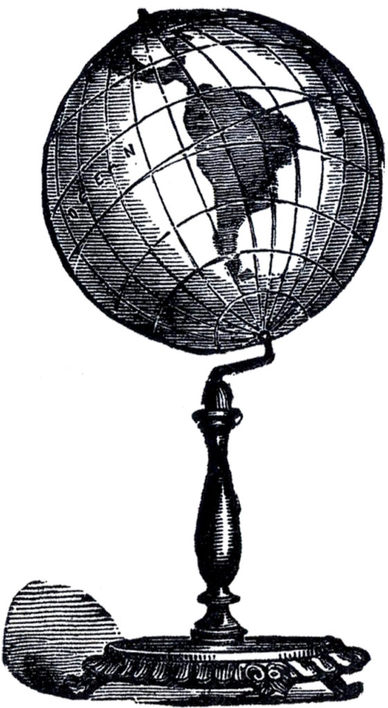 antique globe on stand image
