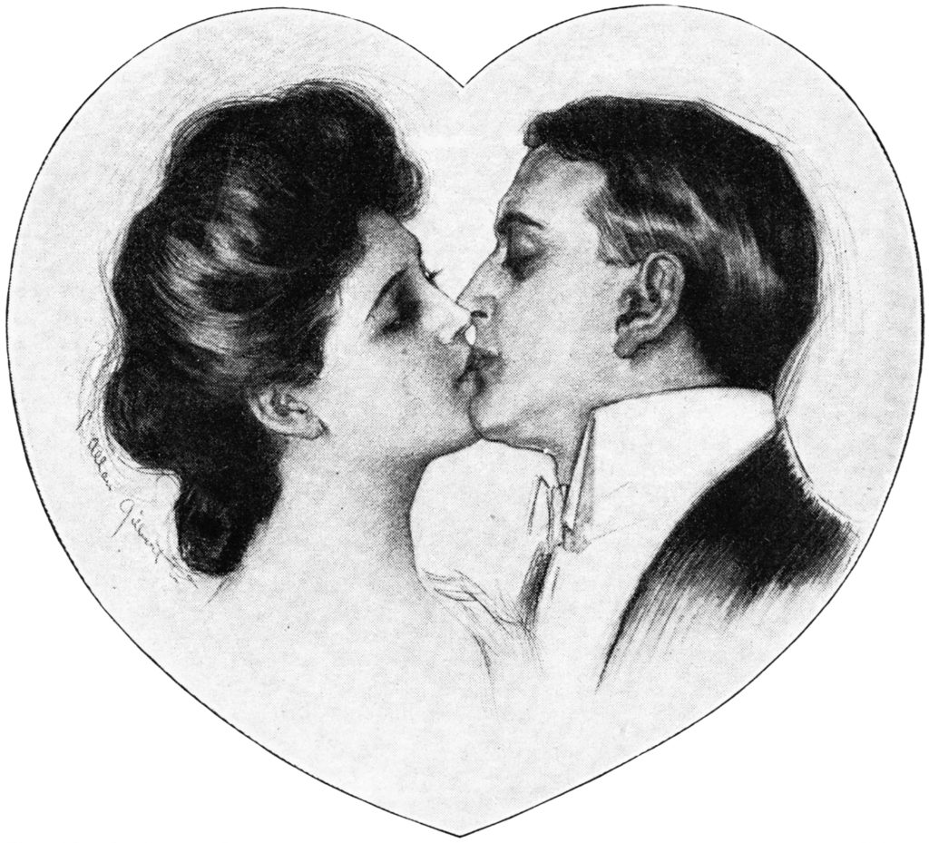 Gibson Girl Valentine Couple Romantic Image