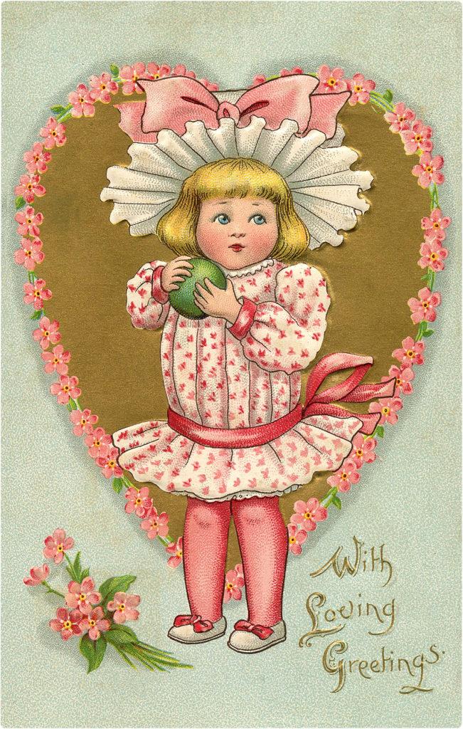 Pink Valentine Girl Image