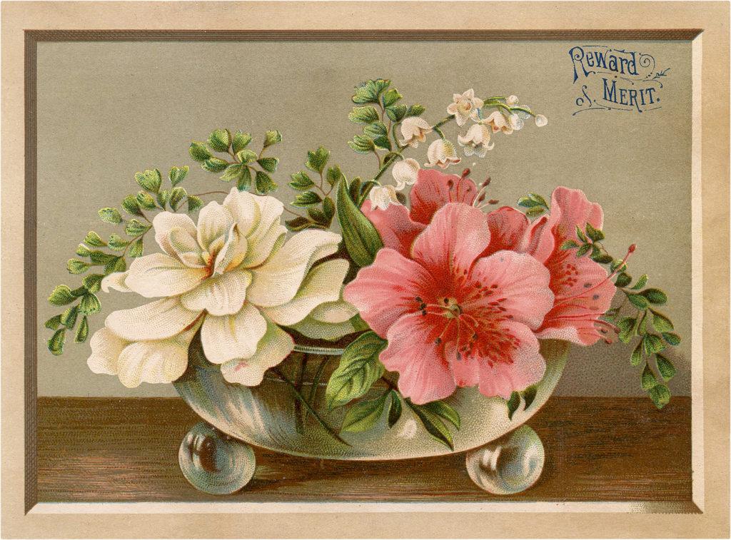 Reward of Merit Floral Card