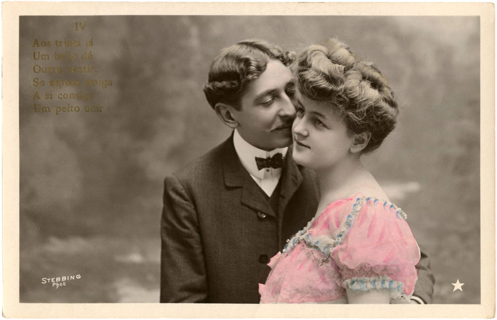 vintage photograph romantic couple image