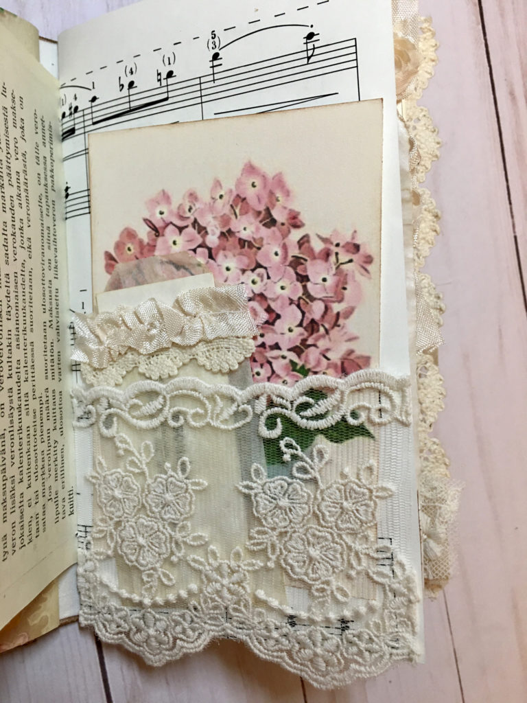 Springtime Journal Lace Pocket