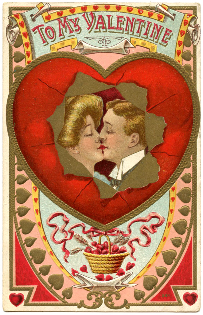 Valentine Couple Kiss Image