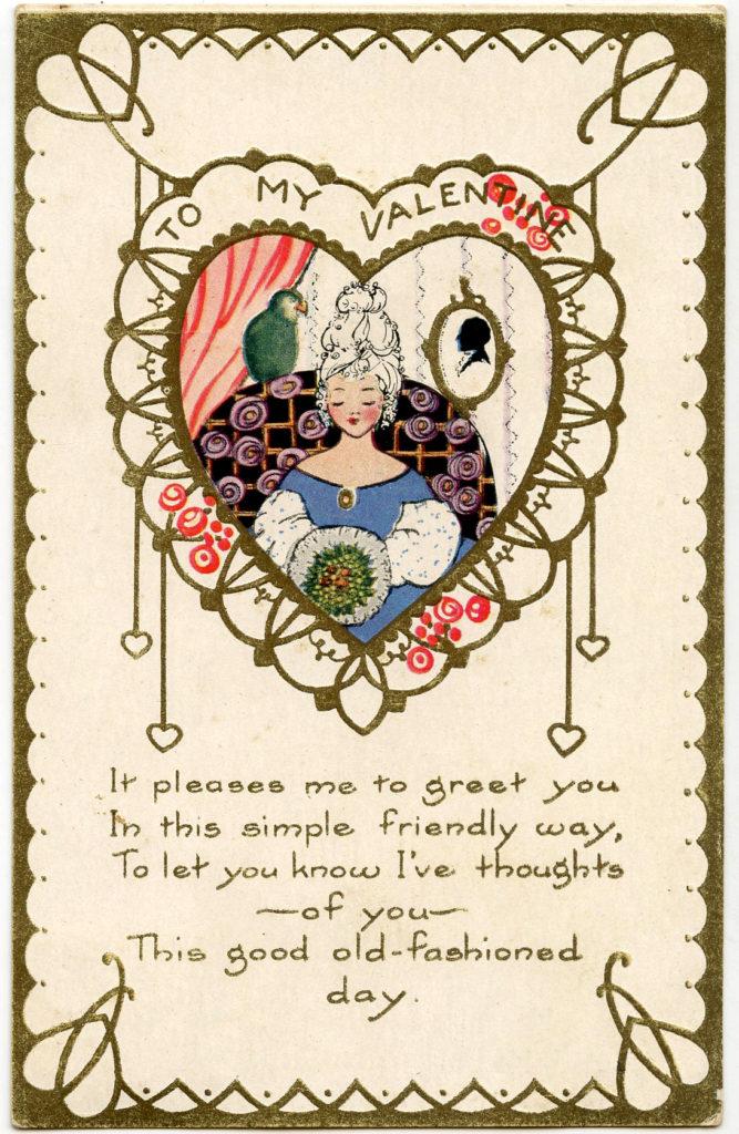 Valentine Lady Heart Image