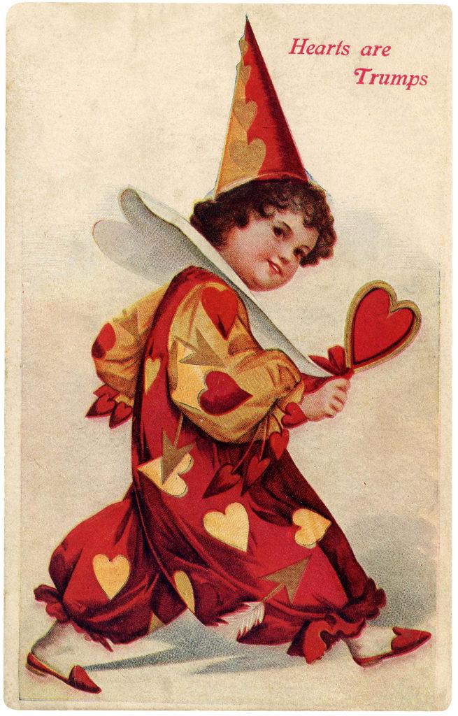 valentine vintage clown heart hearts image