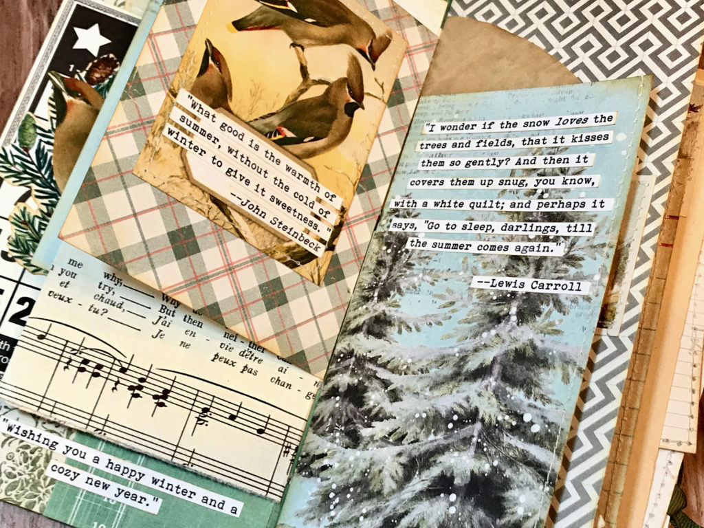 Winter Journal Page Layout