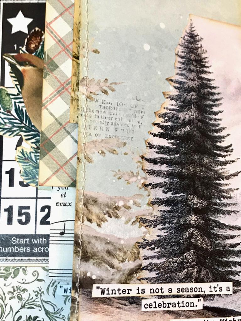 Art Journal Winter Themed