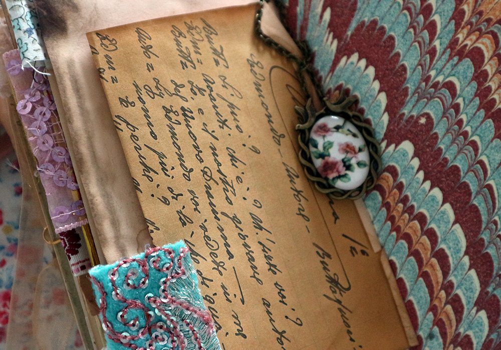 Vintage Junk Journal with Ephemera