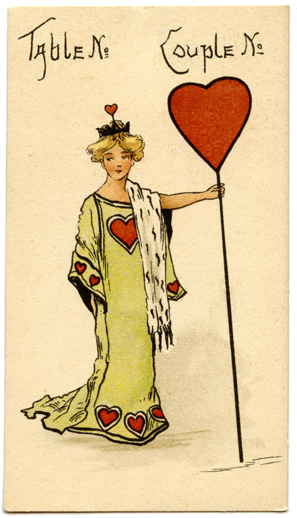Queen of Hearts Lady Vintage Illustration