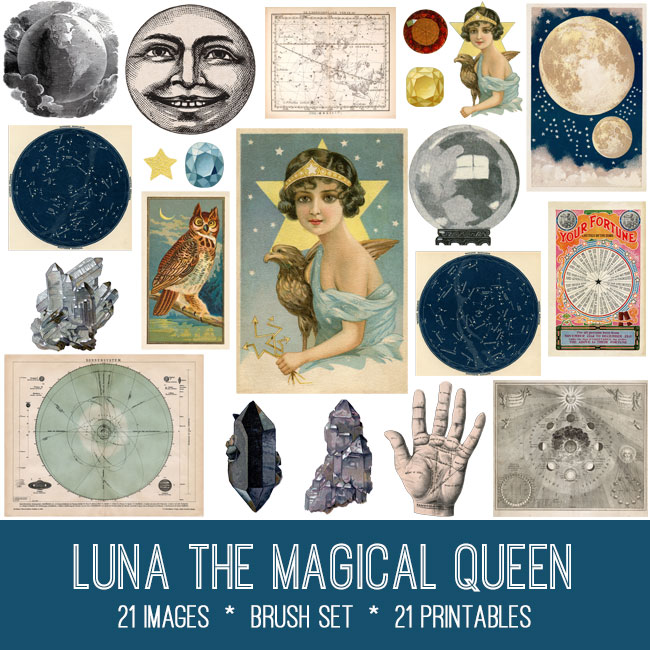 luna the magical queen vintage images