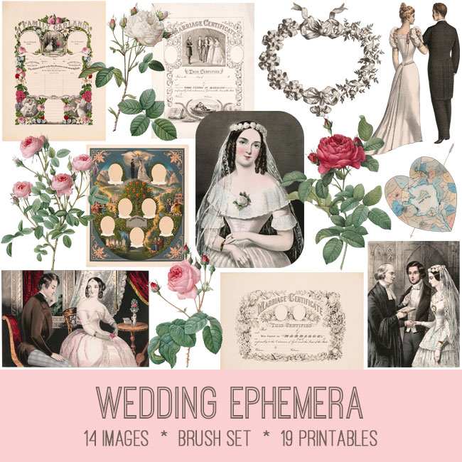 wedding ephemera vintage images