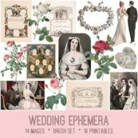 vintage wedding ephemera bundle