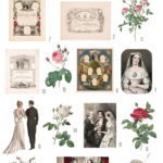 vintage wedding ephemera digital image bundle