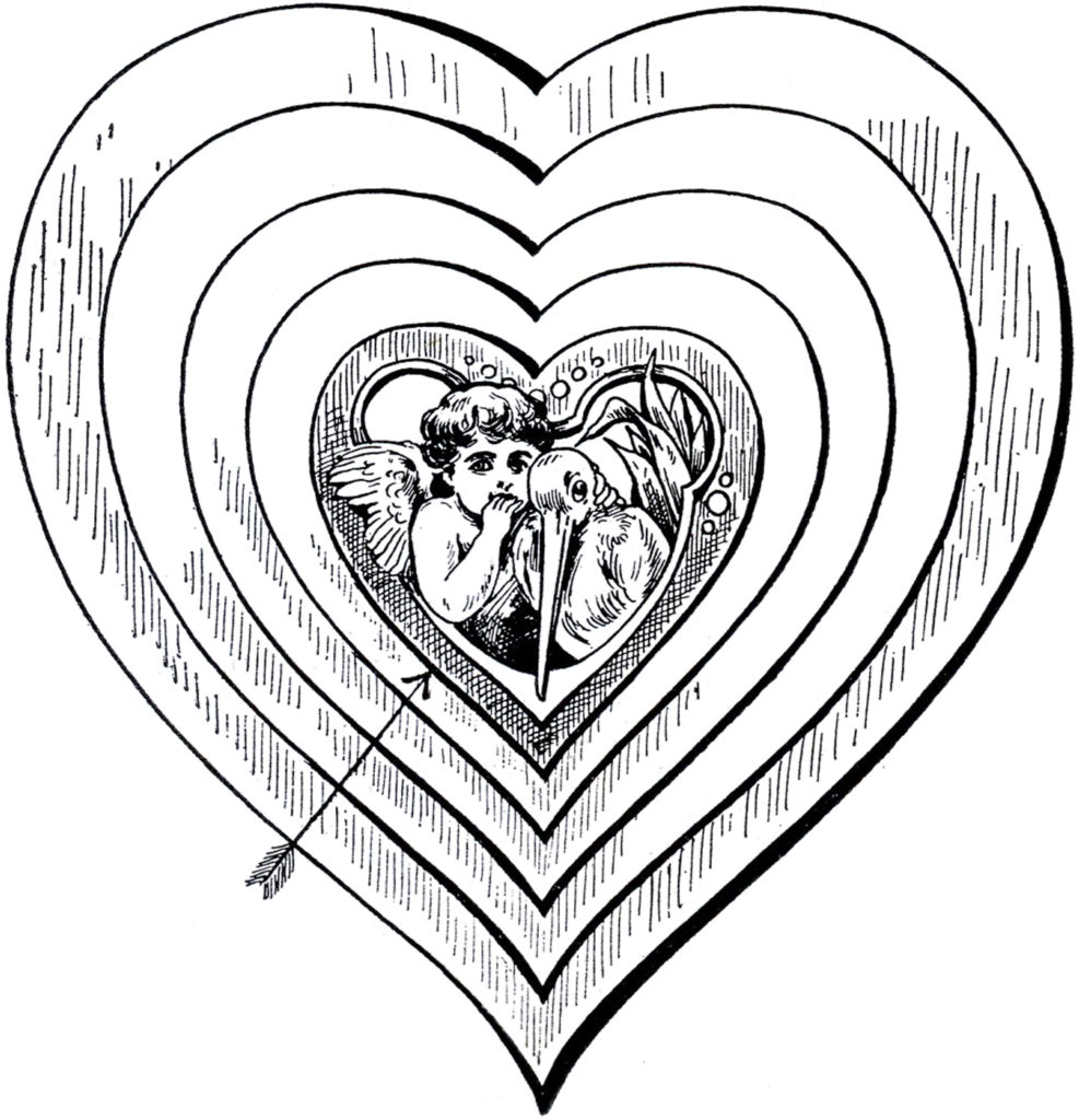 cupid target hearts image