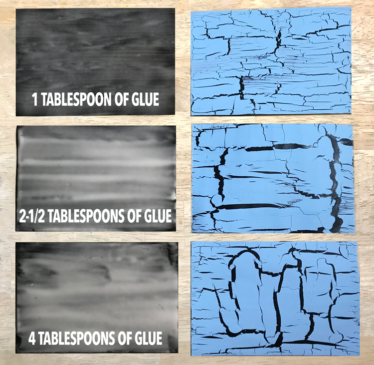 Glue to Crackle Comparison Chart