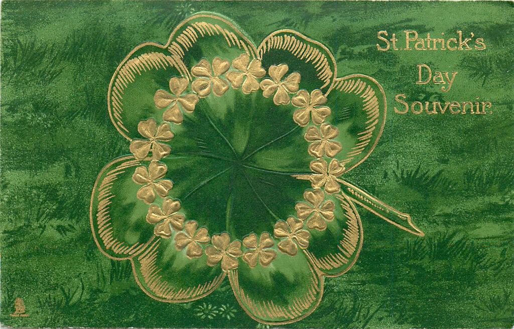 Green Gold Shamrock Image