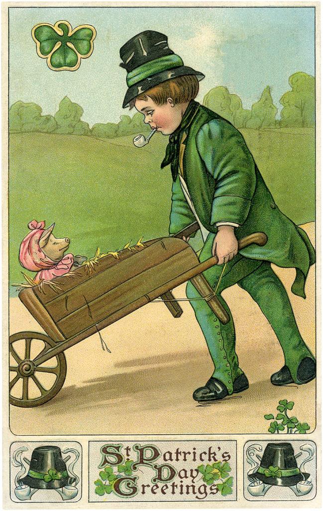 Irishman with Pig