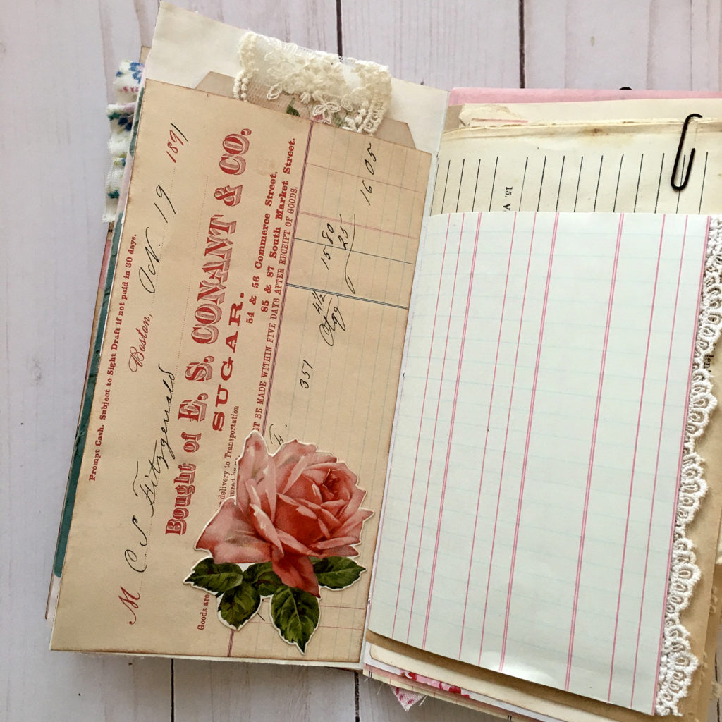 Shabby Rose Junk Journal Page