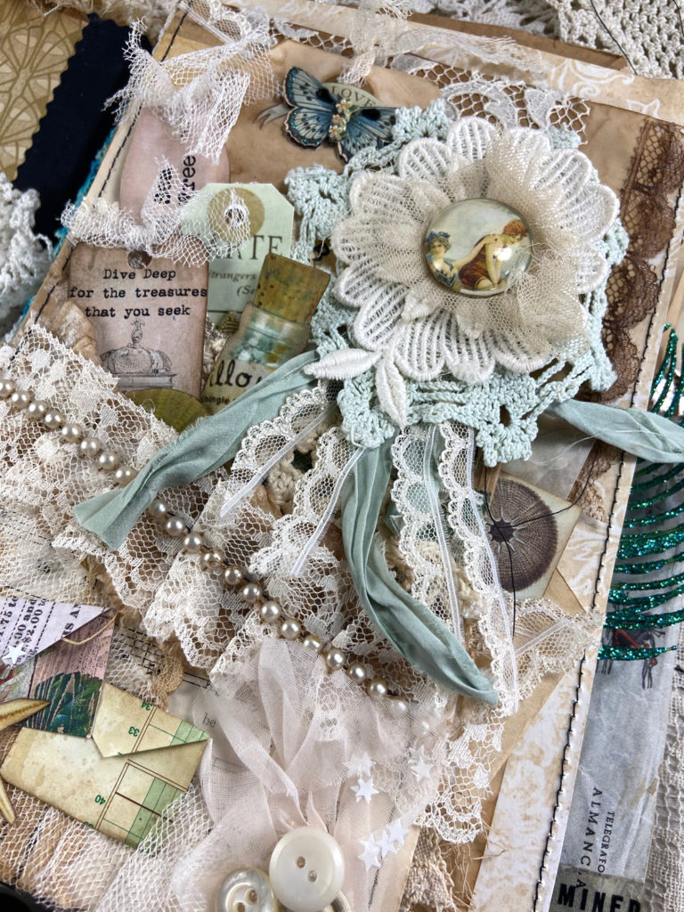 Lace and embellishments