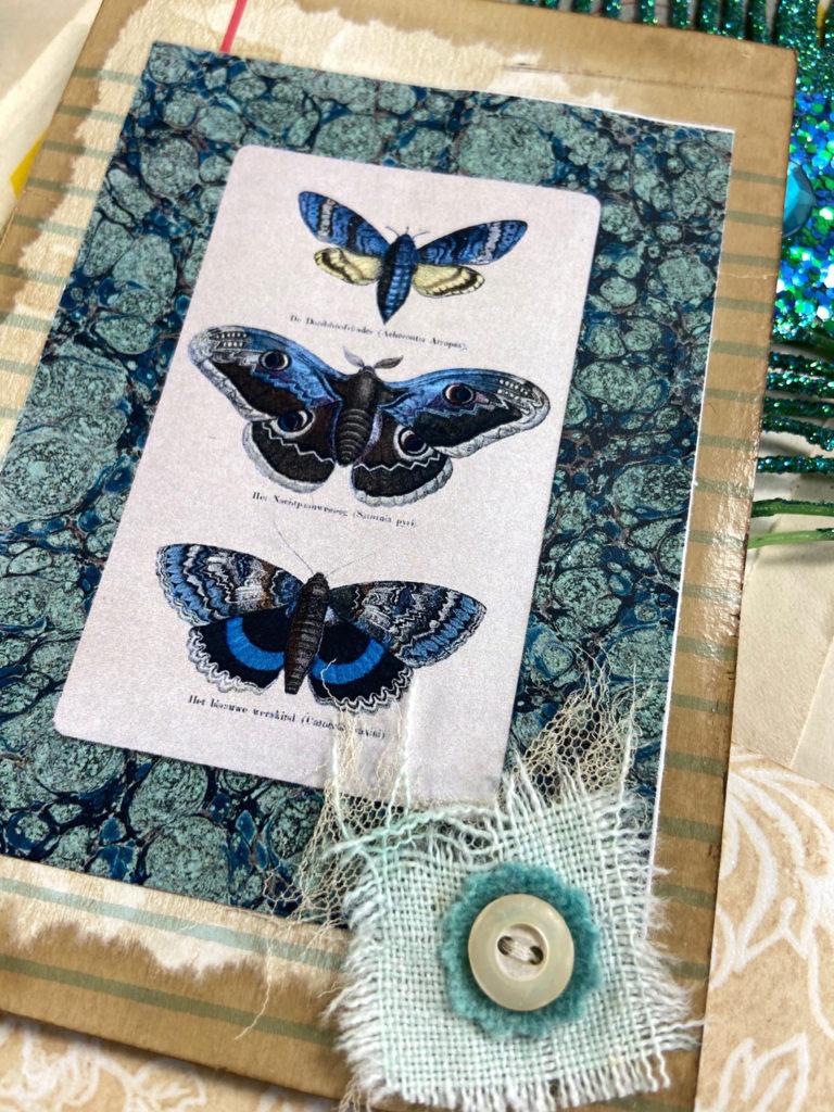 Butterfly Page Mermaid Junk Journal