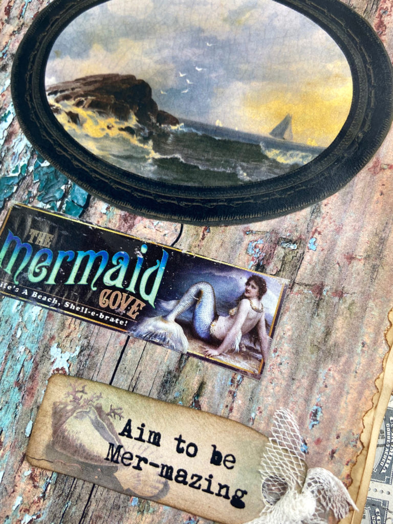 rustic wood Mermaid page