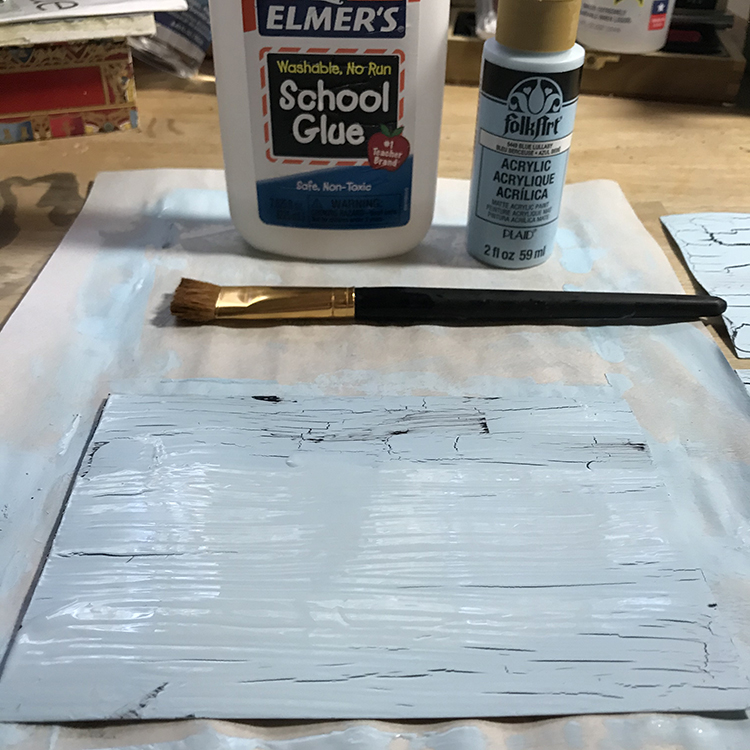 How to Create a Crackle Finish on Paper HERO