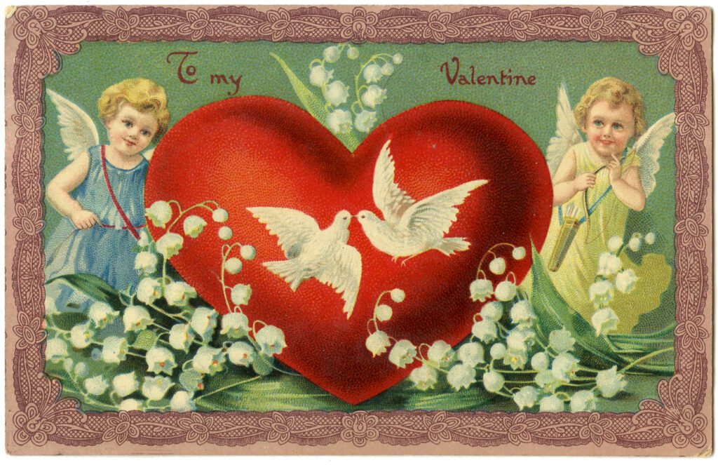 Puffy Heart Cupids Image