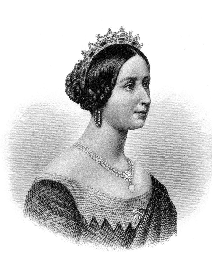 Queen Victoria Black White Image