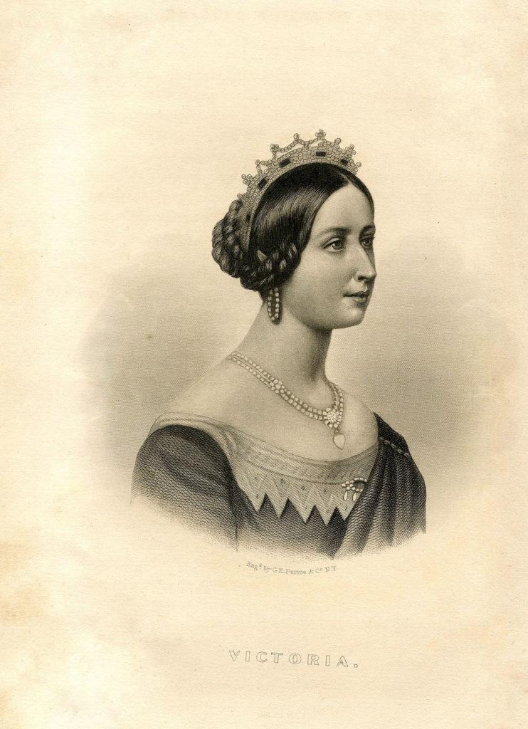 Queen Victoria Sepia Illustration