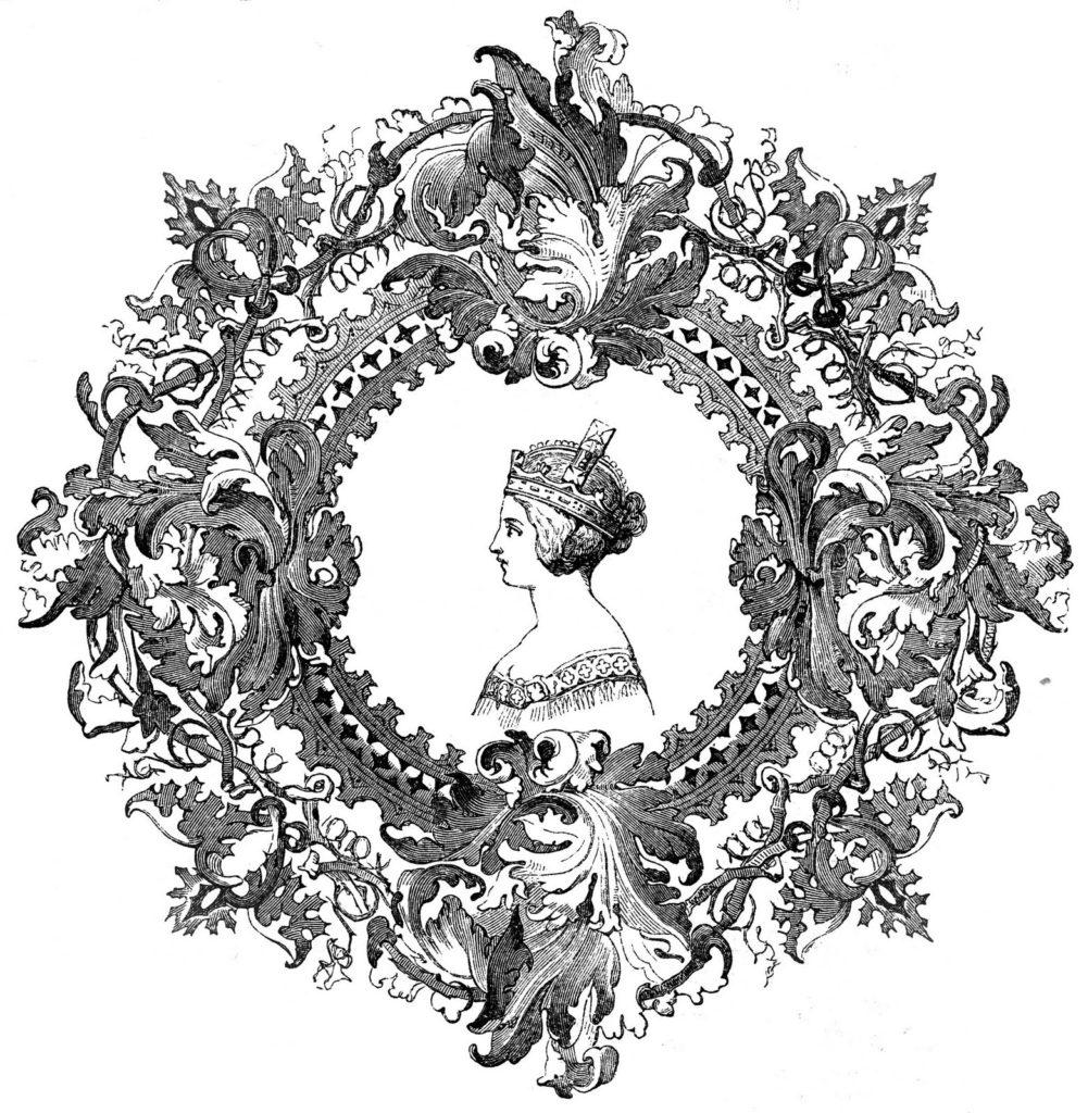 Queen Victoria Round Frame Image
