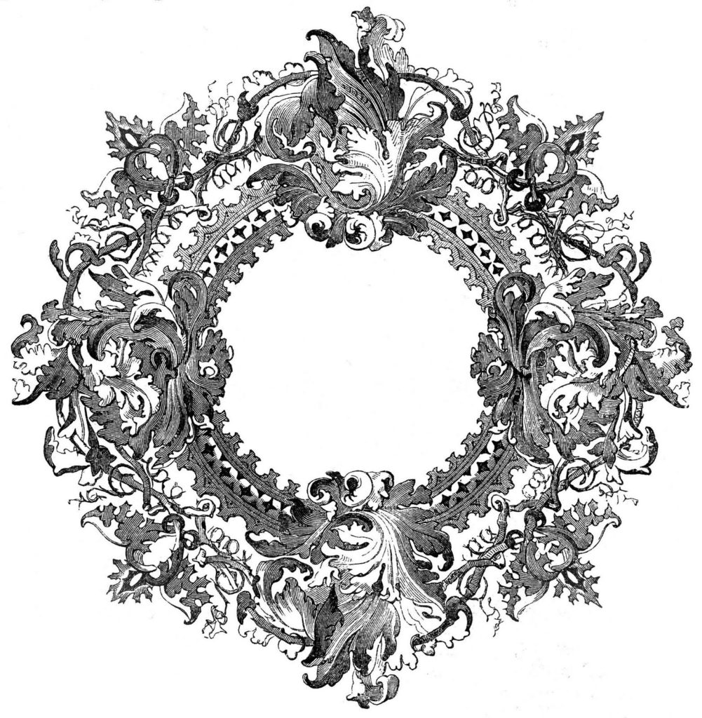 Round Ornate Victorian Frame