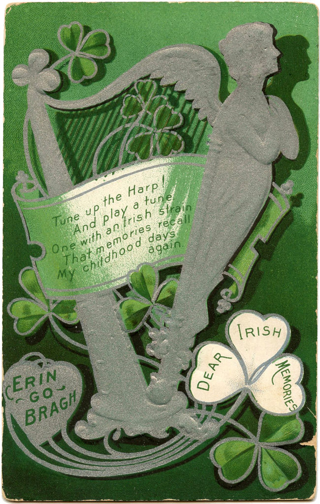 Silver Harp Lady Image St Pats Day