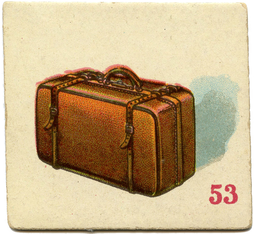 suitcase game card vintage luggage image