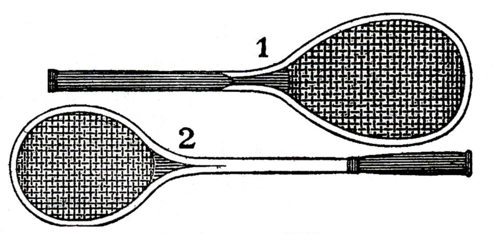 vintage tennis rackets black white clipart
