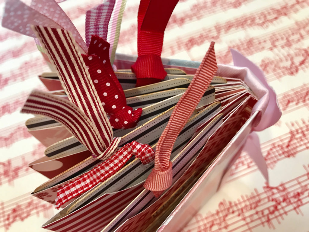 Valentine Handmade Book with Ribbons