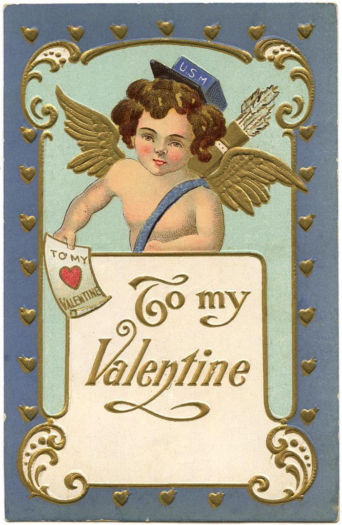 Valentine Cupid Postman Heart Image