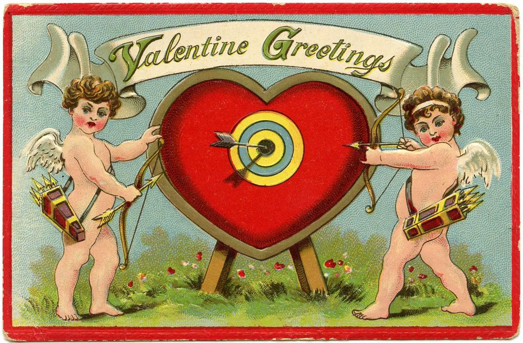 valentine cupids heart target image