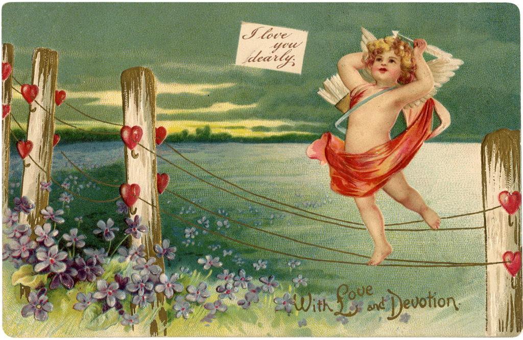 Valentine Cupid Hearts Illustration